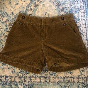 Anthropologie corduroy shorts